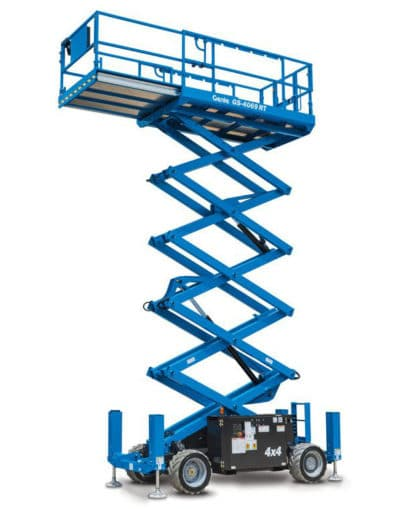 Genie GS 4069RT 400x509 - Genie GS-4069 DC | Battery Rough Terrain Scissor Lift